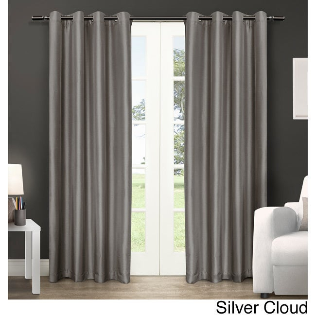Popular Photo of Copper Grove Fulgence Faux Silk Grommet Top Panel Curtains