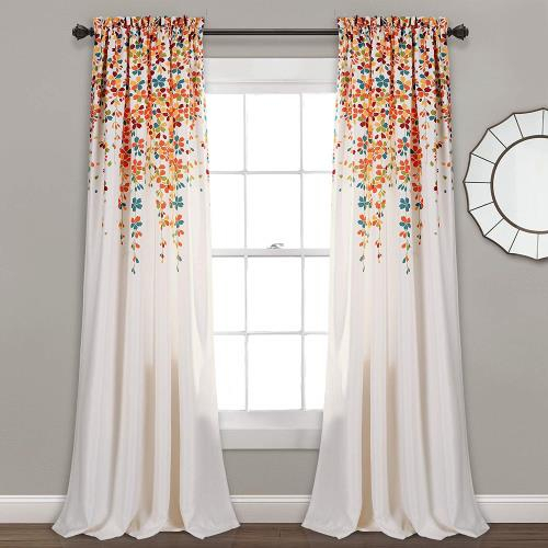 Details About Lush Decor Weeping Flowers Room Darkening Window Panel  Curtain Set (Pair) Within Cynthia Jacobean Room Darkening Curtain Panel Pairs (View 12 of 41)