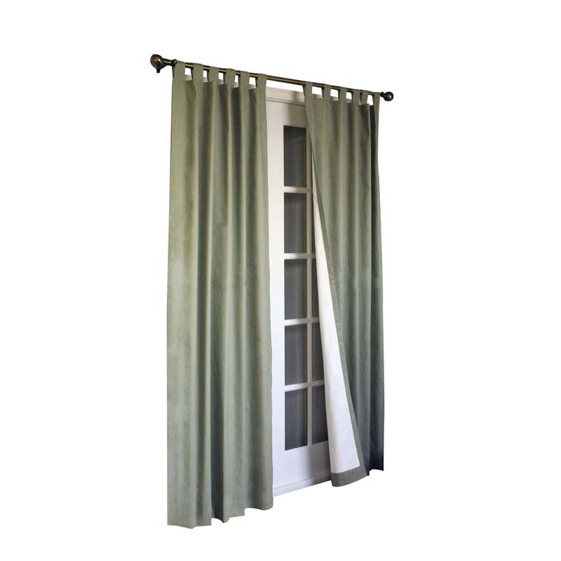Details About Thermalogic Weather Cotton Fabric Window Tab Curtain Panels  Pair Sage With Regard To Insulated Cotton Curtain Panel Pairs (#15 of 50)