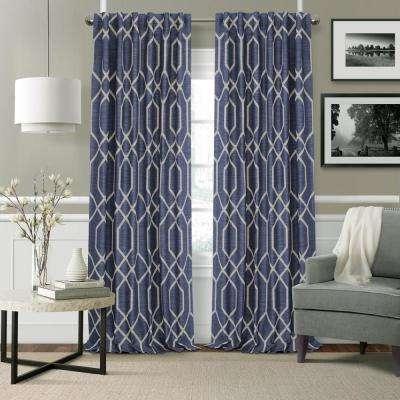 Devin Geometric Room Darkening Window Curtain Pertaining To Geometric Linen Room Darkening Window Curtains (View 16 of 50)