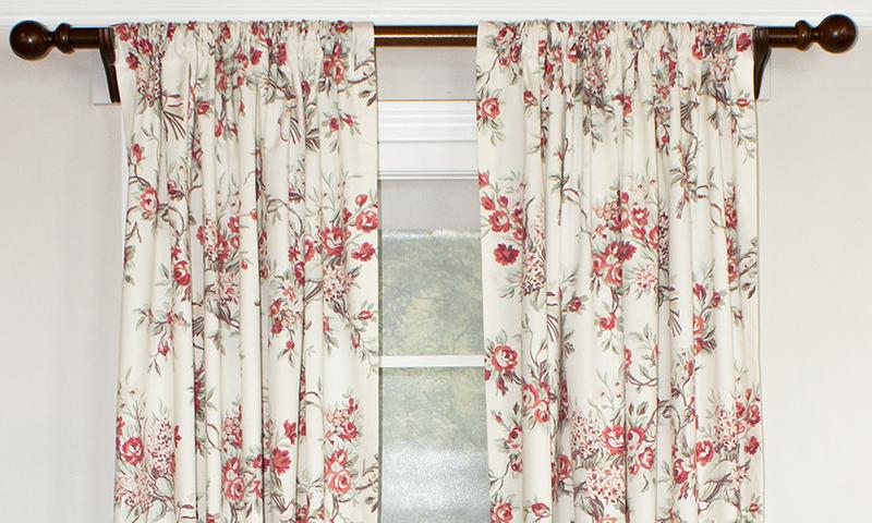 Inspiration about Dewillow Rod Pocket Single Panel – Outlet | Rlf Home Intended For Willow Rod Pocket Window Curtain Panels (#35 of 46)