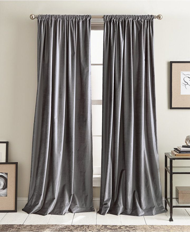 Dkny Modern Textured Velvet 50 X 108 Pole Top Pair Of Window For Knotted Tab Top Window Curtain Panel Pairs (#12 of 50)