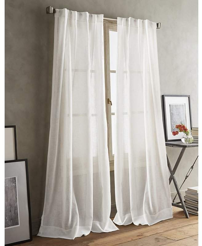 Inspiration about Dkny Paradox Back Tab Solid Sheer Curtain Panels | Products For Elowen White Twist Tab Voile Sheer Curtain Panel Pairs (#35 of 36)