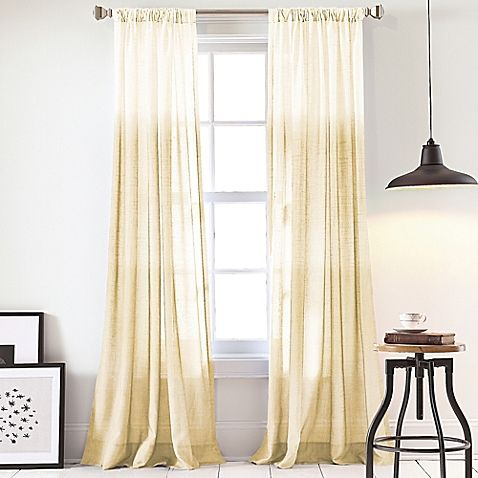 Dkny Urban Ombre 95 Inch Window Curtain Panel In Yellow Inside Ombre Stripe Yarn Dyed Cotton Window Curtain Panel Pairs (View 5 of 31)