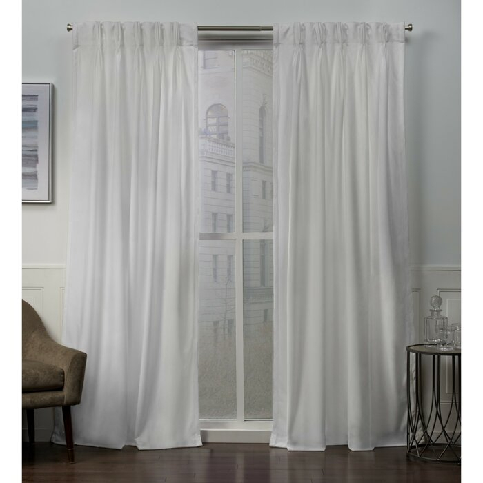 Inspiration about Donna Heavyweight Solid Color Room Darkening Pinch Pleat Panel Pair Throughout Double Pinch Pleat Top Curtain Panel Pairs (#1 of 50)