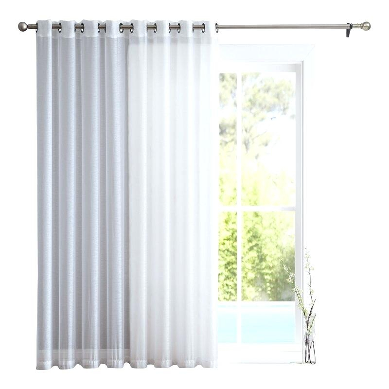Inspiration about Door Sheer Curtain Panels – Lucianobarfield.co Inside Emily Sheer Voile Solid Single Patio Door Curtain Panels (#42 of 50)