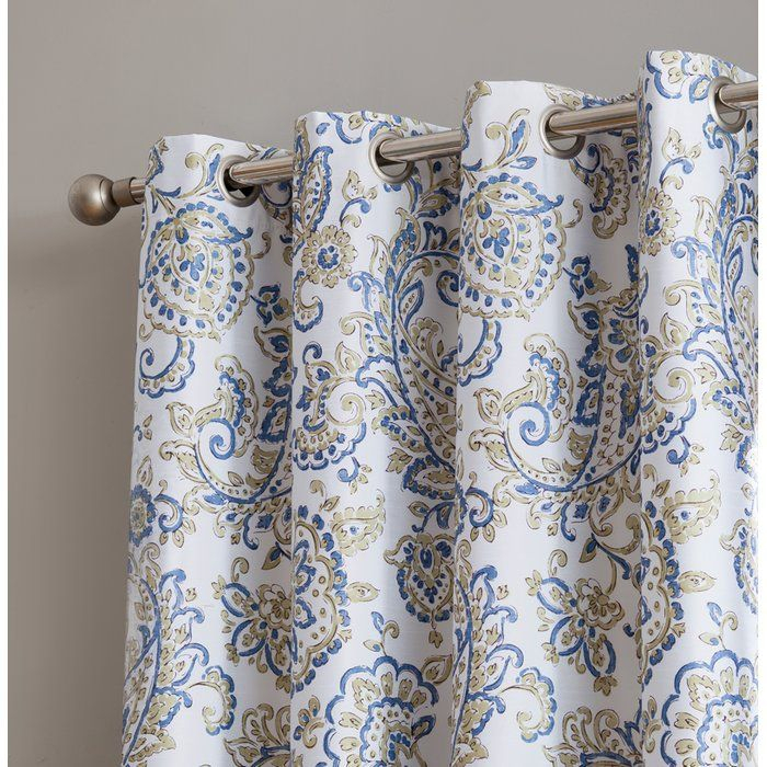 Dossantos Amalfi Paisley Max Blackout Thermal Grommet Pertaining To Embossed Thermal Weaved Blackout Grommet Drapery Curtains (View 17 of 42)