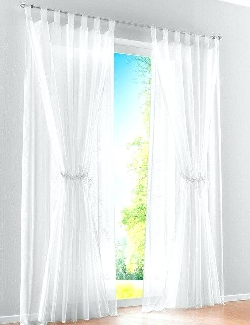 Double Layer Curtains – Getzenprm Regarding Signature White Double Layer Sheer Curtain Panels (View 33 of 50)
