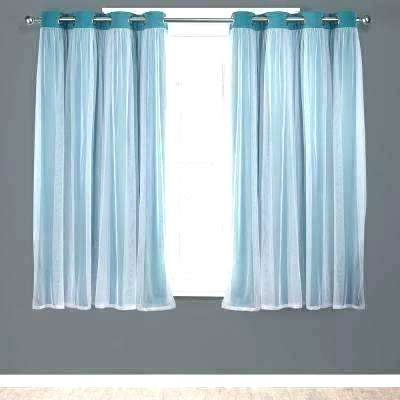 Double Layer Sheer Curtain Layered Curtains Window Solid Pertaining To Double Layer Sheer White Single Curtain Panels (View 19 of 50)