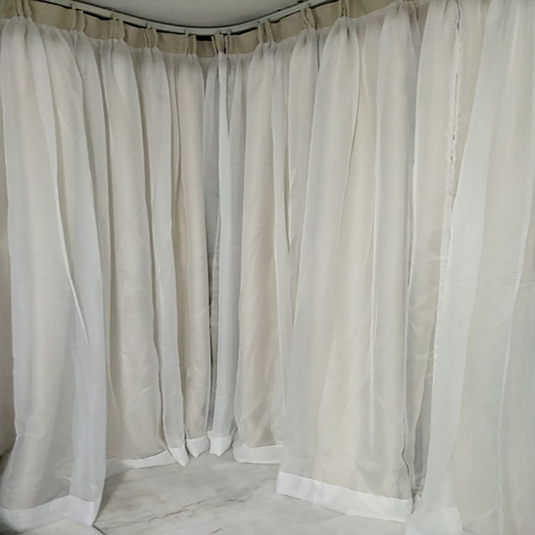 Double Layer Sheer Curtains | Home Design Ideas Regarding Signature White Double Layer Sheer Curtain Panels (View 21 of 50)