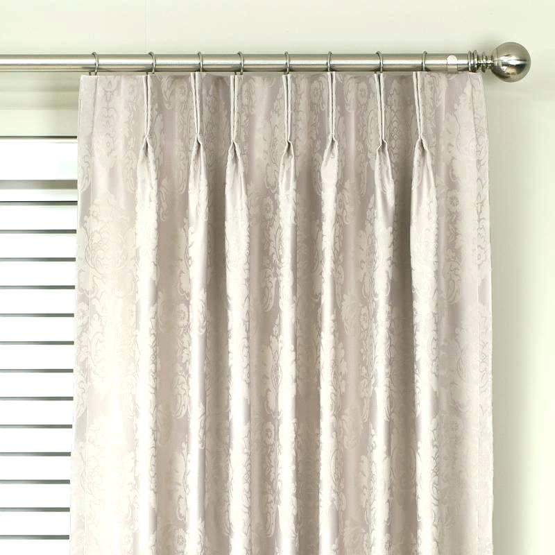 Double Pleated Curtains Within Double Pinch Pleat Top Curtain Panel Pairs (#13 of 50)
