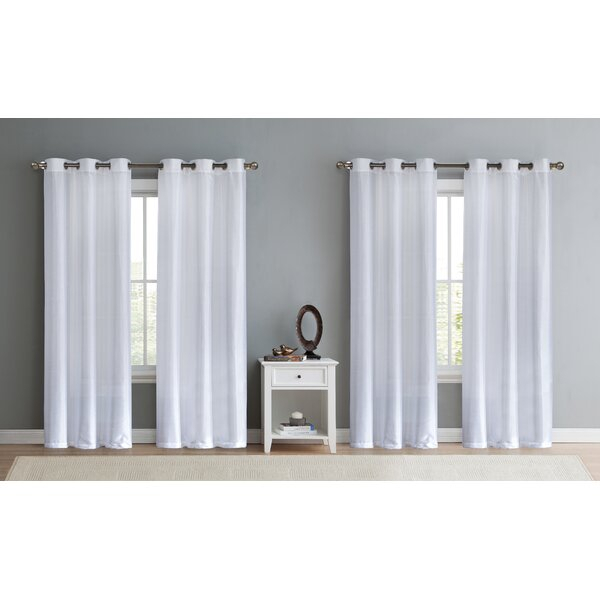 Double Sheer Curtains | Wayfair With Regard To Double Layer Sheer White Single Curtain Panels (View 23 of 50)