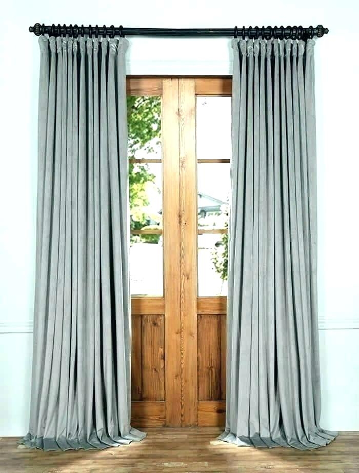Inspiration about Double Wide Velvet Blackout Curtain | Flisol Home In Signature Ivory Velvet Blackout Single Curtain Panels (#38 of 50)