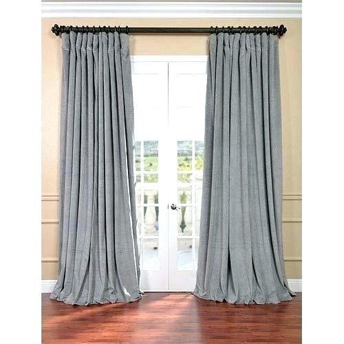 Inspiration about Double Width Curtains – Worldofseeds.co In Tacoma Double Blackout Grommet Curtain Panels (#21 of 48)
