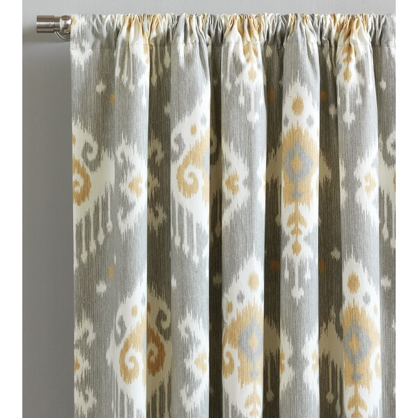 Downey Ikat Room Darkening Rod Pocket Curtains/drapes With Cyrus Thermal Blackout Back Tab Curtain Panels (#14 of 39)