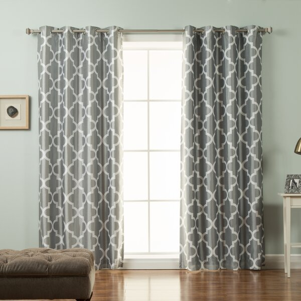 Inspiration about Draft Blocking Curtains | Wayfair Within Easton Thermal Woven Blackout Grommet Top Curtain Panel Pairs (#15 of 44)