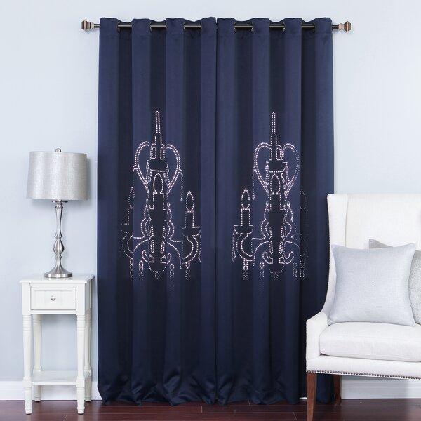Draped Chandelier   Wayfair Regarding Ladonna Rod Pocket Solid Semi Sheer Window Curtain Panels (#8 of 47)