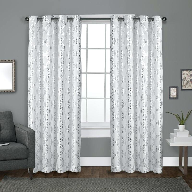Drapery Panels With Grommets – Hfflp Inside Total Blackout Metallic Print Grommet Top Curtain Panels (#7 of 50)