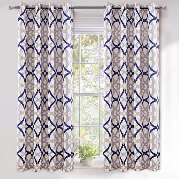 Inspiration about Driftaway Alexander Spiral Geo Thermal Insulated Blackout With Regard To Thermal Insulated Blackout Curtain Panel Pairs (#33 of 50)
