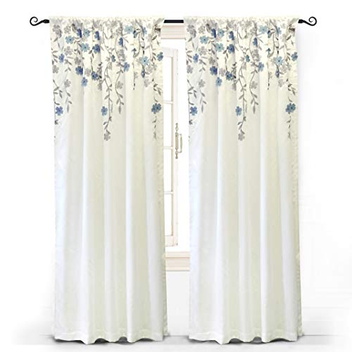 "Driftaway Isabella Faux Silk Embroidered Window Curtain, Embroidered Crafted Flower, Lined Thermal Fabric, Single Panel, One Panel, 50""X84"" In Ofloral Embroidered Faux Silk Window Curtain Panels (View 15 of 50)"