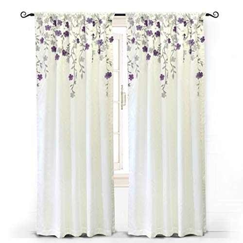 "Driftaway Isabella Faux Silk Embroidered Window Curtain, Embroidered Crafted Flower, Lined With Thermal Fabric, Single Panel, One Panel, 50""X84"" Within Ofloral Embroidered Faux Silk Window Curtain Panels (View 30 of 50)"