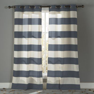Duck River Kathi Grommet Curtain Panel Pair Open Sea – Kaqlb Intended For Ocean Striped Window Curtain Panel Pairs With Grommet Top (#12 of 41)