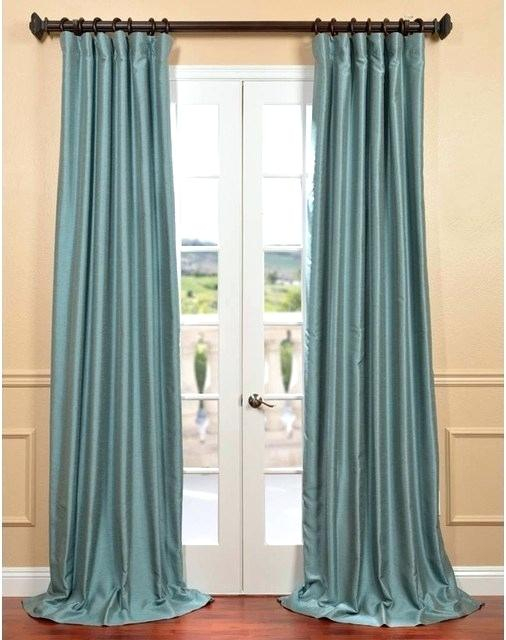 Dupioni Silk Curtain Panel – Noepaz (#5 of 50)