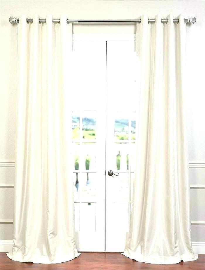 Dupioni Silk Curtains Faux On Sale White Poly Curtain With Within Vintage Textured Faux Dupioni Silk Curtain Panels (#6 of 50)
