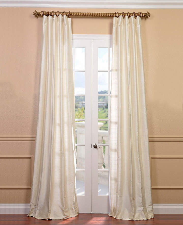 Inspiration about Dupioni Silk Curtains – Shopstyle With Regard To Evelina Faux Dupioni Silk Extreme Blackout Back Tab Curtain Panels (#14 of 33)