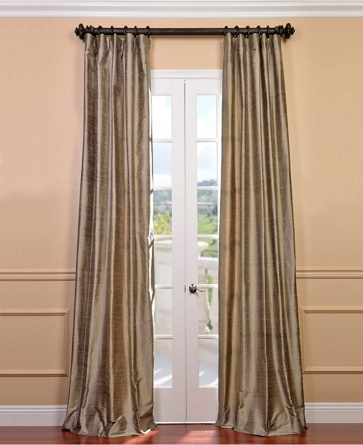 Dupioni Silk Curtains – Shopstyle Within Evelina Faux Dupioni Silk Extreme Blackout Back Tab Curtain Panels (View 8 of 33)