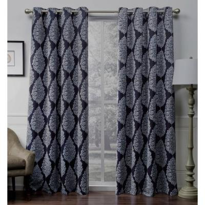 Inspiration about Durango Black Pearl Geometric Printed Woven Sateen Grommet Pertaining To Geometric Print Textured Thermal Insulated Grommet Curtain Panels (#8 of 45)