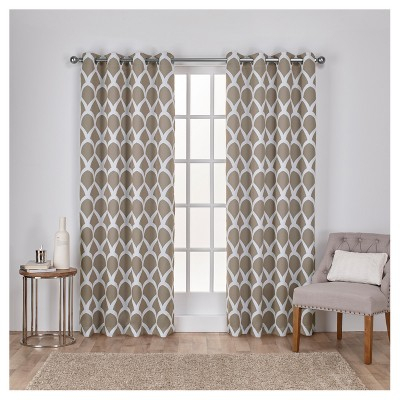 Inspiration about Durango Printed Geometric Sateen Woven Room Darkening Pertaining To Easton Thermal Woven Blackout Grommet Top Curtain Panel Pairs (#16 of 44)