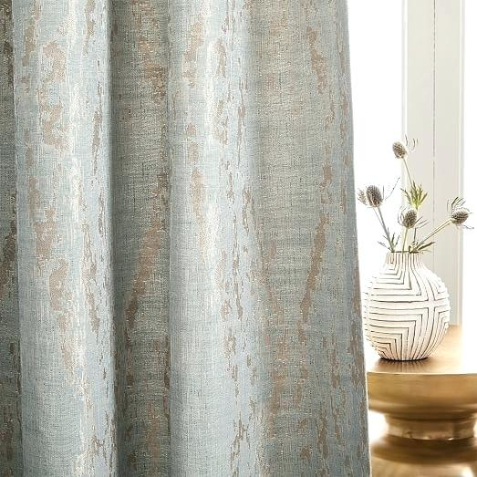 Dusty Blue Curtains – Drupal Module For Bark Weave Solid Cotton Curtains (View 19 of 50)