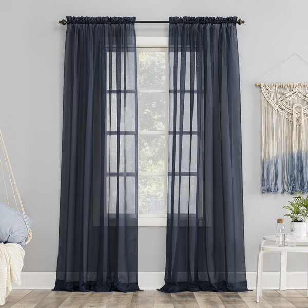 Dusty Blue Curtains | Wayfair Regarding Sateen Twill Weave Insulated Blackout Window Curtain Panel Pairs (View 20 of 29)