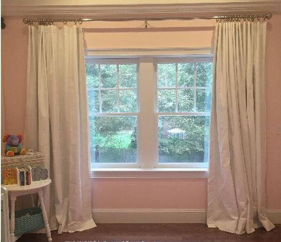 """Dyed Solid Curtains, 16 Colors,canvas Duck,10 Oz Cotton Curtains,pair  Drapery Panels,24"""" Wide,52"""" Wide,valance Regarding Solid Cotton Curtain Panels (#20 of 47)"""