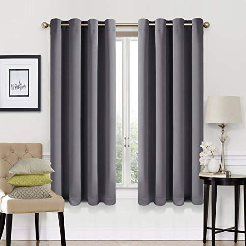 Easeland 99% Blackout Curtains 2 Panels Set Room Darkening Drapes Thermal Insulated Solid Grommets Window Treatment Pair For Bedroom, Nursery, Living With Solid Thermal Insulated Blackout Curtain Panel Pairs (View 10 of 50)