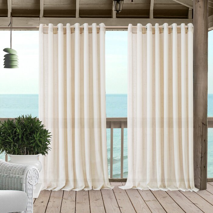 Easter Compton Solid Sheer Grommet Single Curtain Panel With Light Filtering Sheer Single Curtain Panels (#12 of 38)