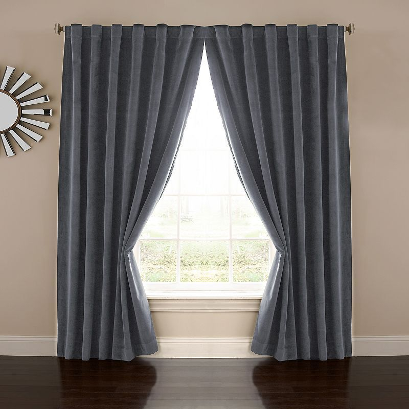 Eclipse Absolute Zero Thermaback Blackout 1 Panel Velvet With Thermaback Blackout Window Curtains (#5 of 36)