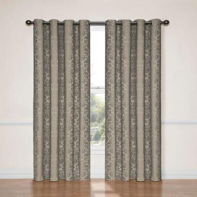 Eclipse Bobbi Blackout Window Curtain Panel In Ivory – 52 In Regarding Hayden Grommet Blackout Single Curtain Panels (View 10 of 39)