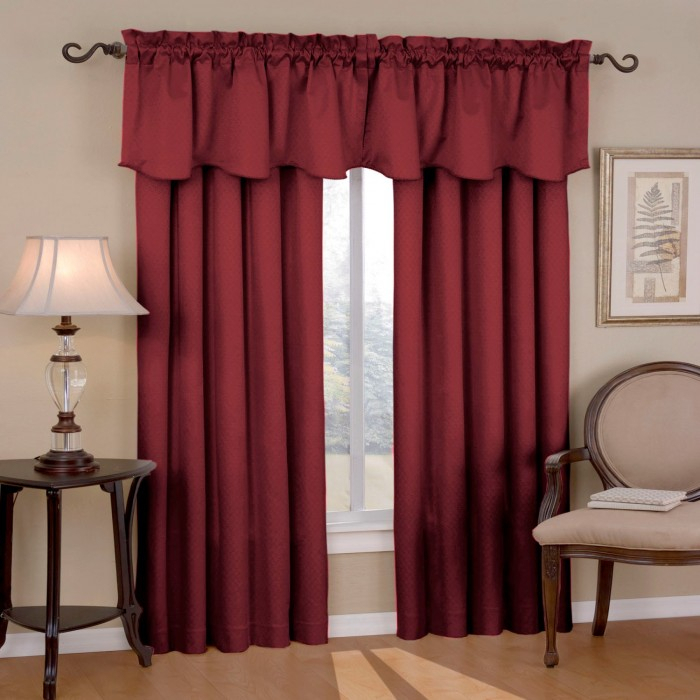 Eclipse Canova Thermaback Blackout Curtain Panel And Valance In Thermaback Blackout Window Curtains (#12 of 36)