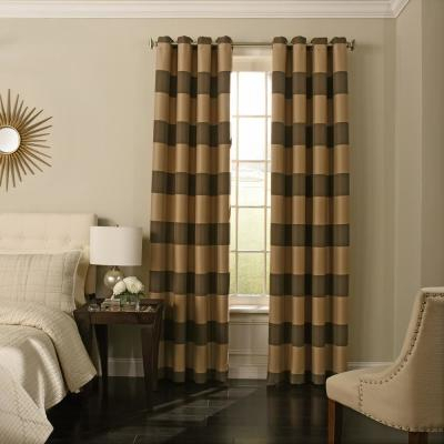 Eclipse Caprese Blackout Window Curtain Panel In Silver – 52 In Eclipse Caprese Thermalayer Blackout Window Curtains (View 4 of 30)