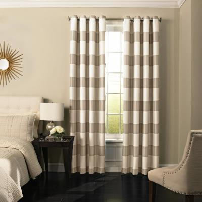 Eclipse Caprese Blackout Window Curtain Panel In Silver – 52 Pertaining To Eclipse Caprese Thermalayer Blackout Window Curtains (View 5 of 30)