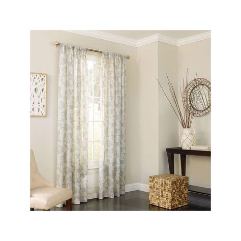 Eclipse Charlene Uv Light Filtering Sheer Curtain, Blue With Light Filtering Sheer Single Curtain Panels (#13 of 38)
