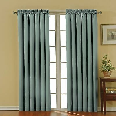 Eclipse Curtains Blue | Compare Prices On Dealsan With Eclipse Solid Thermapanel Room Darkening Single Panel (#4 of 31)