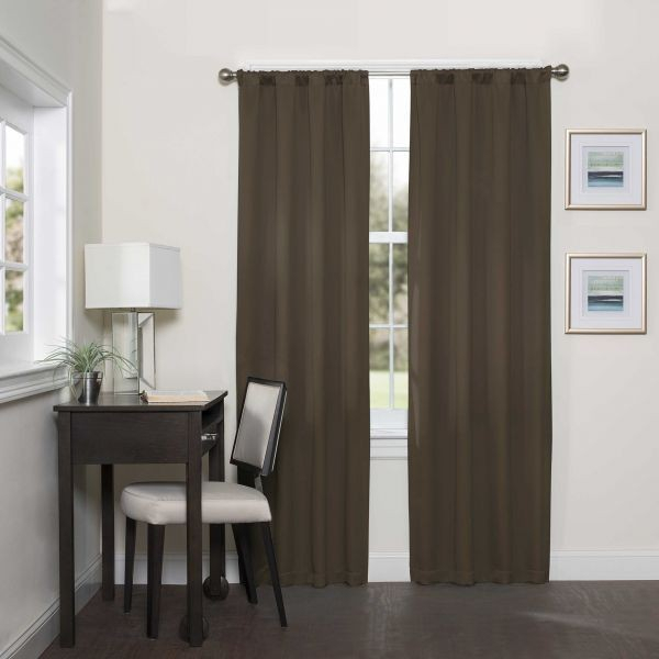 Eclipse Curtains Eclipse Darrell Blackout Window Curtain Panel, 37X63  Inches, Chocolate Price In Saudi Arabia | Compare Prices With Regard To Eclipse Kendall Blackout Window Curtain Panels (#3 of 19)