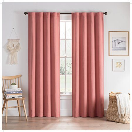 Eclipse Edisto Solid Thermalayer Blackout Window Curtain With Ladonna Rod Pocket Solid Semi Sheer Window Curtain Panels (View 10 of 47)