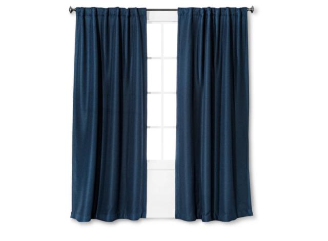 Eclipse Gramercy Light Blocking Window Panel, 52 X 84 Inch, Navy – 100% Regarding Eclipse Trevi Blackout Grommet Window Curtain Panels (View 8 of 26)