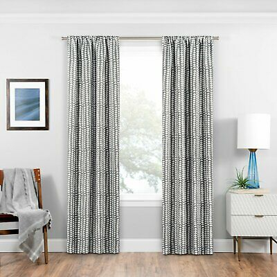 Eclipse Haley Blackout Curtain Panels 37 X 84 Gray Silver With Regard To Eclipse Darrell Thermaweave Blackout Window Curtain Panels (#19 of 50)