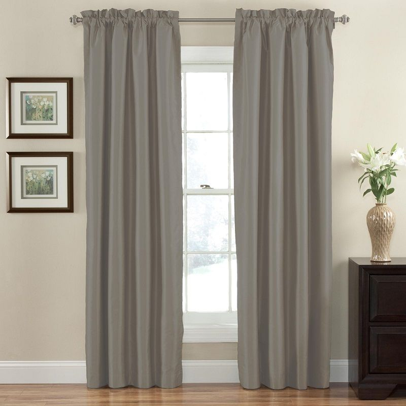 Eclipse Hayden Solid Blackout Window Curtain Panel In Grey With Regard To Hayden Grommet Blackout Single Curtain Panels (View 11 of 39)