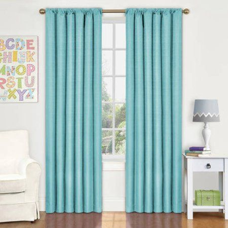 Eclipse Kendall Blackout Window Curtain Panel, Blue With Regard To Eclipse Kendall Blackout Window Curtain Panels (#12 of 19)